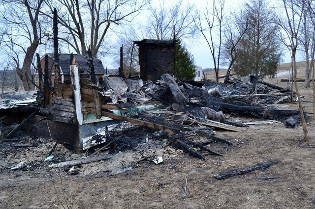 animals saved from burning house