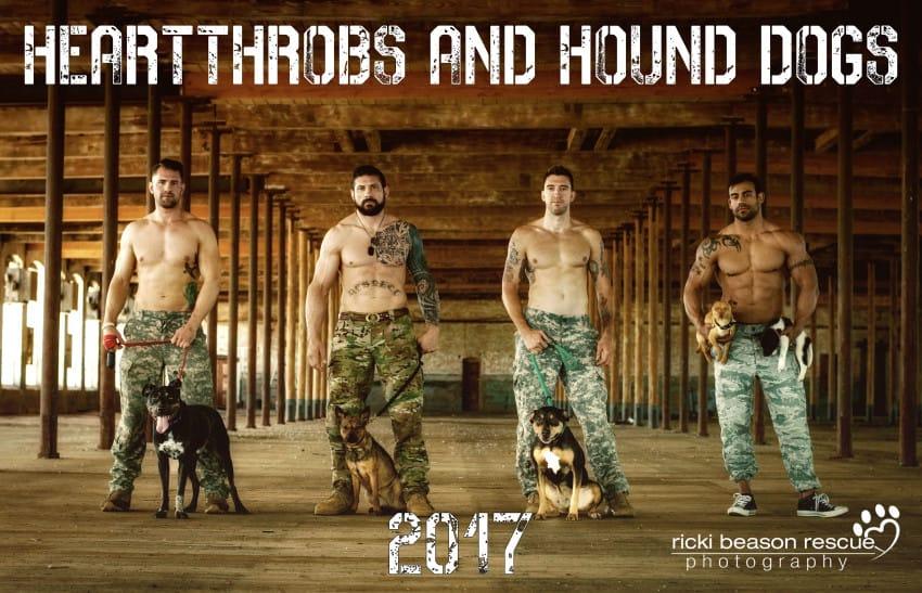 heartthrobs and hounds calendar