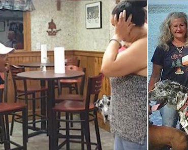 woman screams veteran service dog